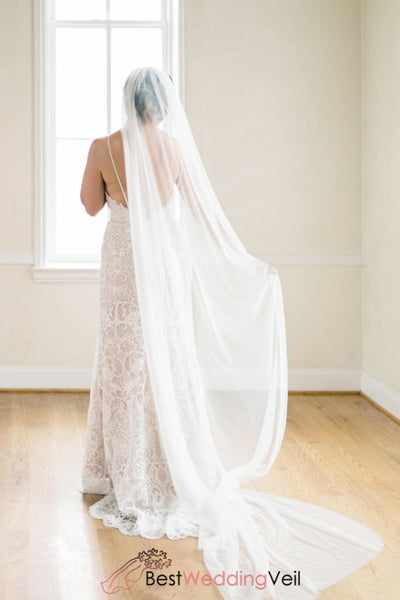 Soft English Net Veil Wedding Single Long Tulle
