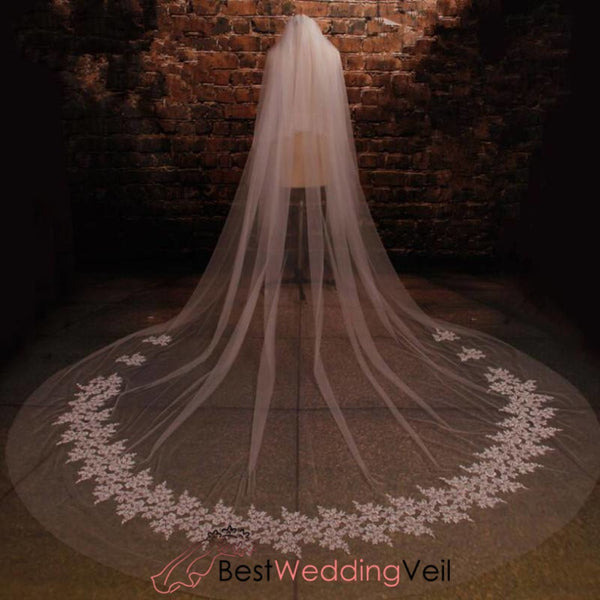 Cut Edge Bridal Veils At Discount Lace Over Tulle Long Veil Shop Wedding