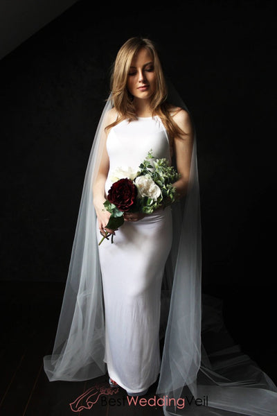Simplest Long Tulle Full Length Wedding Veils Shop Veil