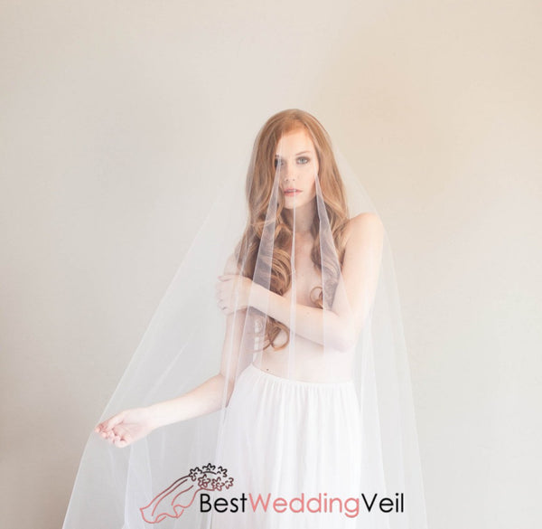 Angel Cut Soft Tulle Drop Veil Wedding