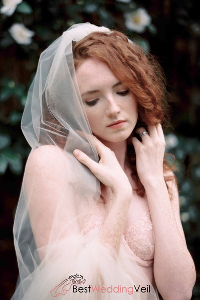 Tulle And French Lace Bridal Cathedral Wedding Veil Ivory