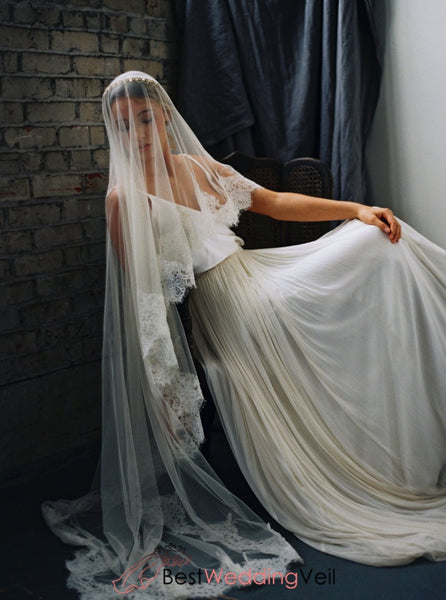 Lace Scallop Mantilia Wedding Veil Patterns