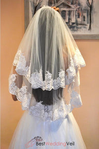 inexpensive-complete-wedding-veils-elbow-lace-trim