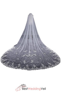 inexpensive-off-white-cathedral-veils-wedding-lace-flowers