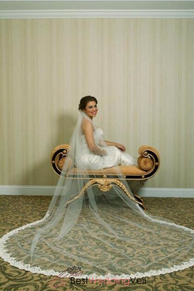 ivory-wedding-veil-cathedral-length-with-beaded-alencon-lace-at-bottom-edge