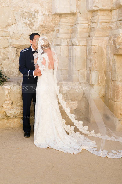 lace-edged-long-wedding-veil-bride-cathedral-length-v-u-do-casamento-1