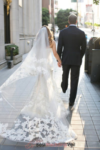 lace-wedding-veils-double-tiers-tulle-cathedral-length-ribbon-veil