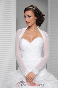 long-sleeve-simple-bridal-shrug-tulle-white-wedding-jackets