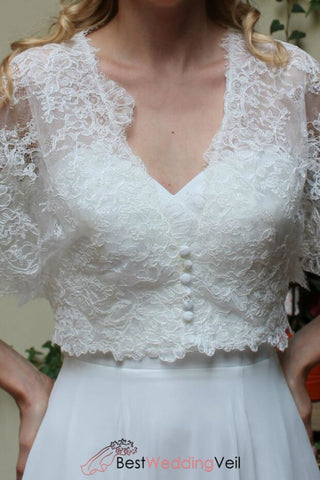 loose-sleeves-v-neck-wedding-lace-jacket-button-up-ivory-bridal-top