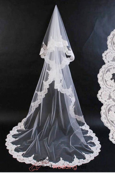mantilla-veil-wedding-cathedral-length-tulle-with-appliqued-lace-edge