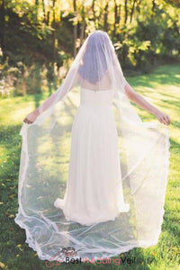 narrow-lace-trim-single-layer-ivory-bridal-veils