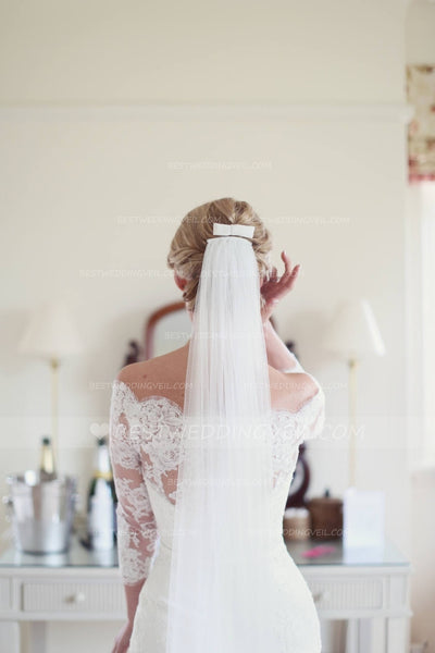 one-layer-tulle-material-ivory-wedding-veil-styles-2