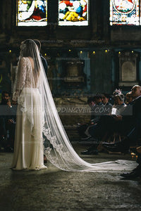one-tier-tulle-lace-edged-wedding-veil-without-comb
