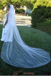 plain-cut-two-tier-120-inches-long-bridal-veil