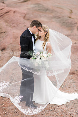 romantic-partial-lace-edge-long-veil-wedding-online
