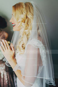 romantic-tulle-hip-length-veil-wedding-velo-de-novia