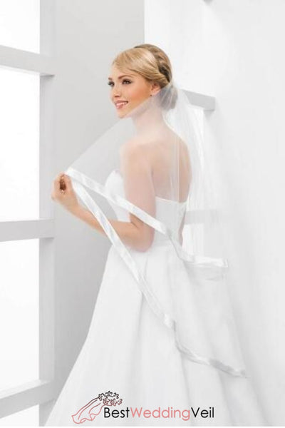 satin-ribbon-edge-fingertip-wedding-veils-two-layers-tulle