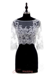 sheer-boat-neck-lace-jacket-wedding-3-4-sleeves