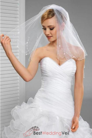 shoulder-length-crystals-wedding-veil-double-layers-tulle