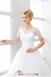 simple-bridal-jacket-elastic-tulle-illusion-short-sleeves