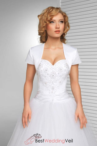 simple-short-sleeved-satin-bridal-bolero-in-white