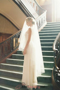 simple-style-blusher-waltz-length-bridal-veil-for-ivory-wedding-dress