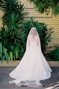 simplest-soft-tulle-long-types-of-wedding-veil