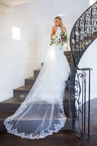 single-layer-lace-trim-cathedral-wedding-veil-pattern