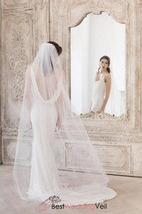 single-layer-tulle-sinple-wedding-bride-veil-with-comb