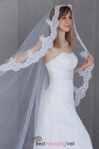 single-tulle-western-style-white-bridal-veil-with-appliqued-edge