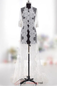 soft-tulle-long-wedding-wrap-saudi-arabia-shrug-lace-appliqued-sleeves