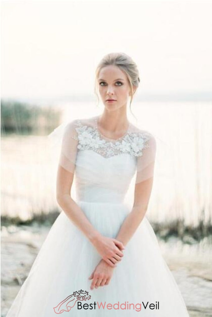 tulle-lace-bridalcover-up-cape-wedding-bolero-with-beaded-flower