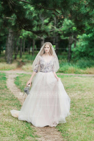 tulle-outside-wedding-long-veil-with-blusher-1