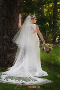 unique-wedding-veil-style-applique-detailing-double-layers-tulle