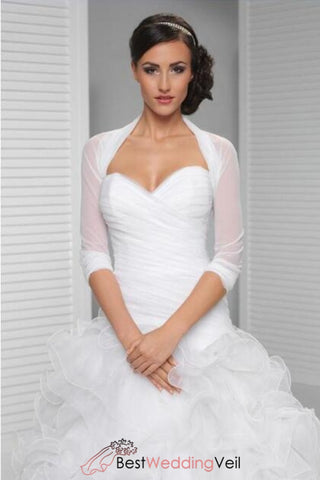 white-simple-bridal-jacket-half-sleeves-cover-up-shrug