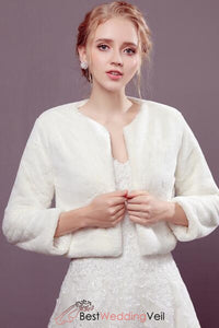 83b816134e Winter Wedding Bridal Bolero Shrug Evening Cover up Long Sleeve ...