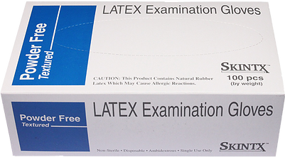 Premium Powder Free Textured Latex Exam Gloves, 100/Box