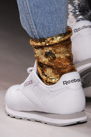 socks and sneakers gold reebook francesca castellano