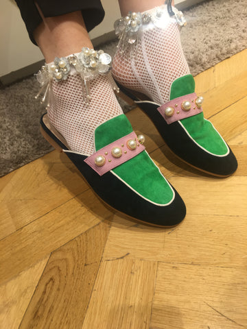 francesca castellano glittery collection socks trend gucci shoes