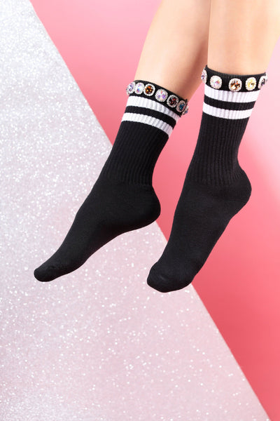 diamond socks with swarovski decoration hand made