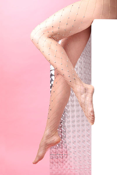 large fishnet tights stockings metal stars decoration costellation