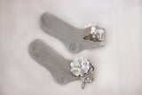 """SILVER MOON"" bridal socks"