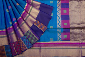 Trisha's Beautiful Multi Colored Festive Wear Handloom Silk Saree