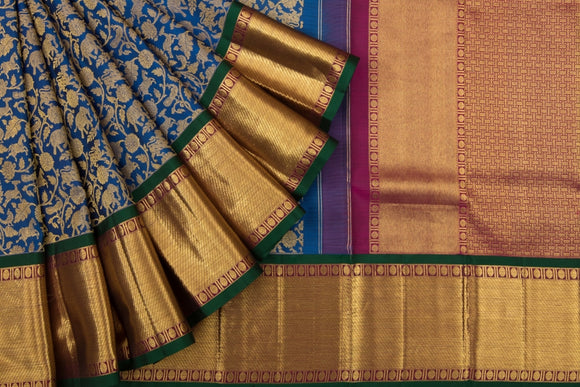 Trisha's Elegant Blue Color Kanjivaram Pattu Saree