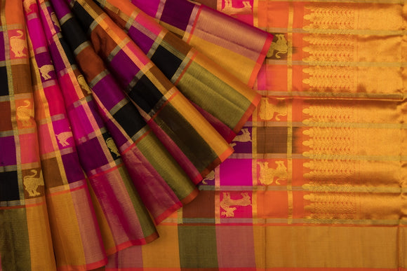 Trisha's Multiple Color Handloom Silk Saree