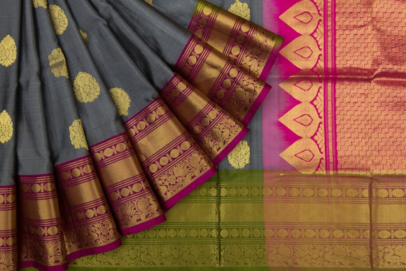 Trisha's Charming Grey & Pink Color Handloom Silk Saree
