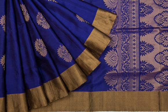 Trisha's Glowing Deep Blue Colored Banarasi Look Handloom Silk Saree