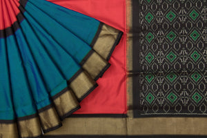 Trisha's Impression Multi-Colored Party Wear Handloom Silk Saree