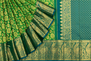 Trisha's Delightful Green Colored Kanchipuram Silk Saree