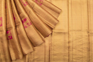 Trisha's Deserving Beige Colored Festive Wear Handloom Silk Saree